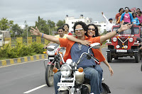 Madhura Velankar on Bike from Movie still mi amruta