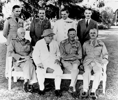 Churchill and Allied officers