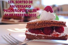 SORTEO DE ANIVERSARIO http://pequenosdetalleshelga.blogspot.com/