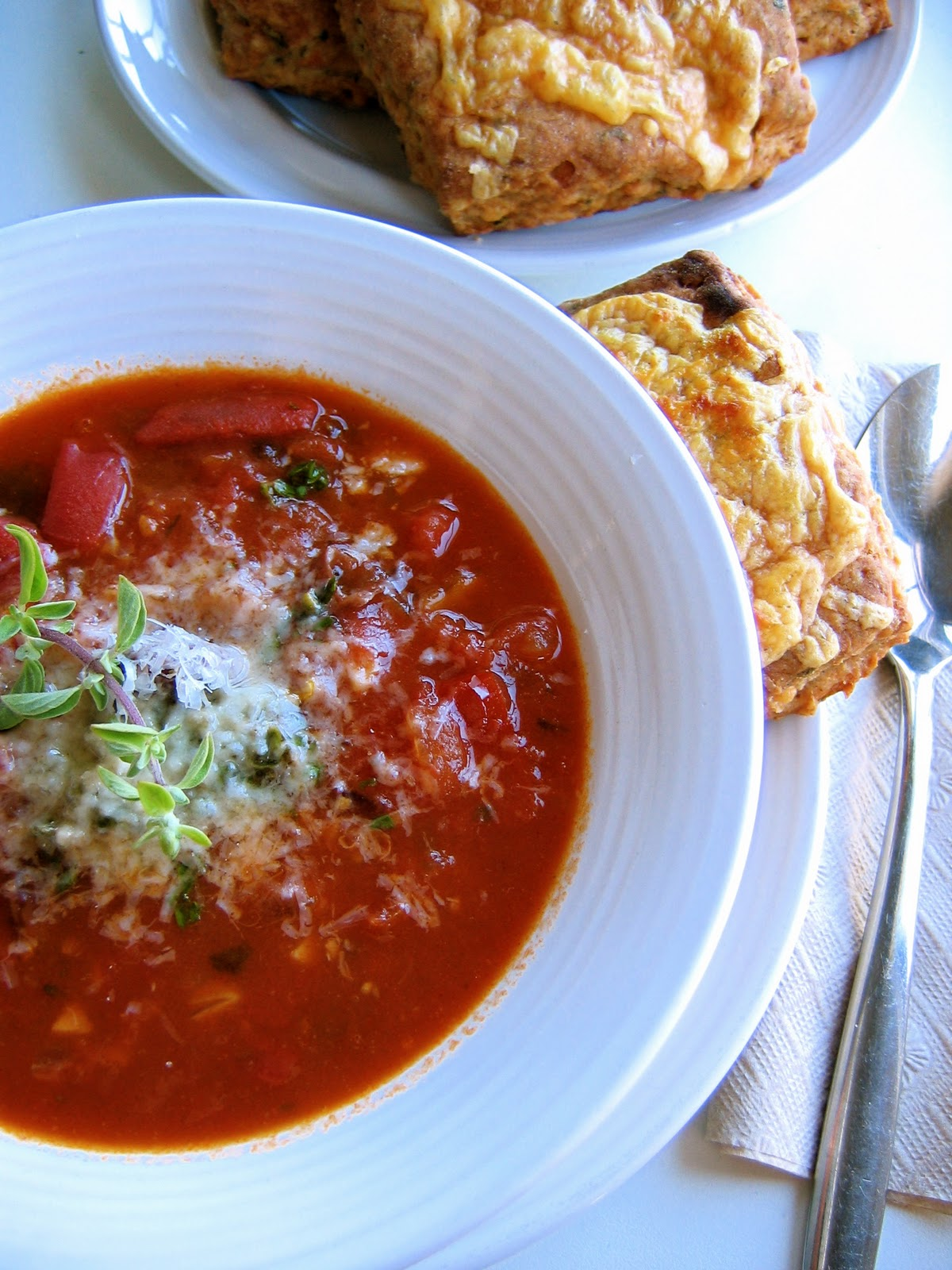 Smoky Tomato Butterbean Soup, with Herbed Cheddar Biscuits – The ...
