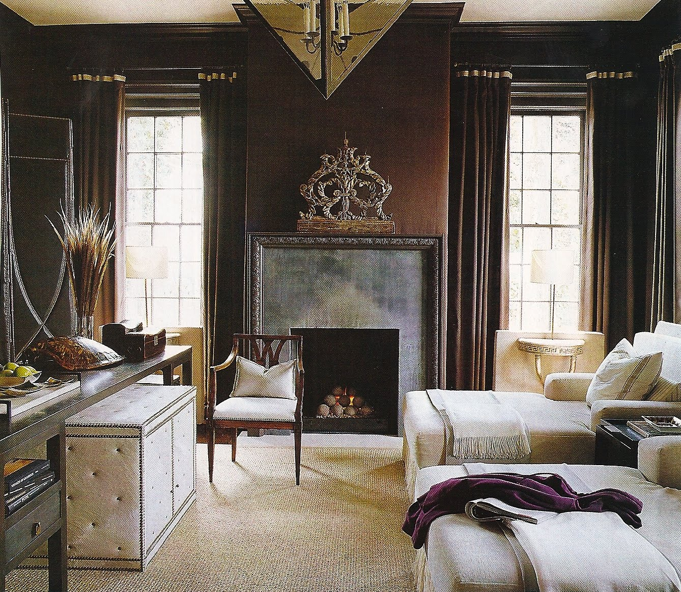 Rooms With Lines: Design Dump: Living Spaces: Masculine Lines