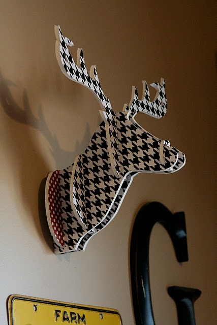 Houndstooth Deer Head