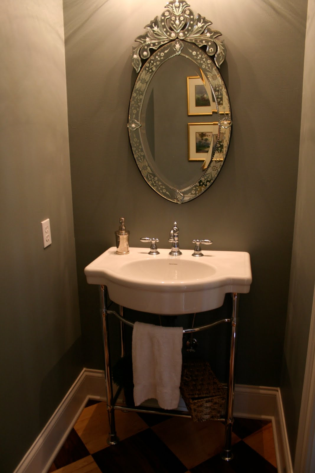 Design dump house 5 powder room before after Mirror design for small bathroom