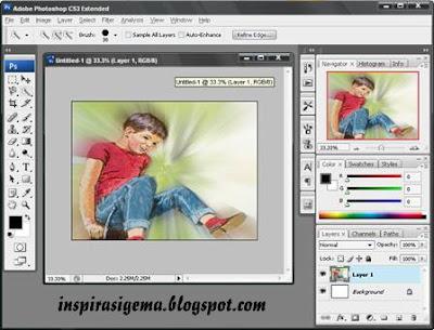 Trik Foto Efek Foto Anak Di Photoshop Cs3 - Graffiti Graffiti