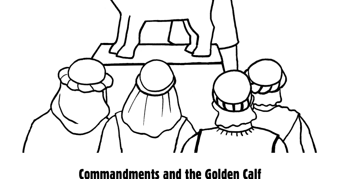 moses golden calf coloring pages - photo#21
