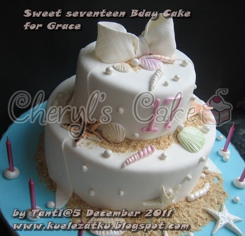 Sweet Seventeen cake for Grace