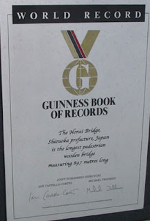 Guinness Book of Records plaque