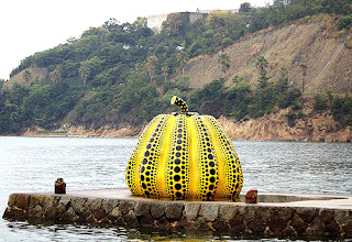 Pumpkin on Naoshima Island by Yayoi Kusama
