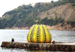 Pumpkin on Naoshima Island by Yayoi Kusama