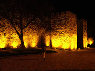 Lagos Fort illuminated at night