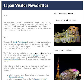 Japan Visitor January Newsletter