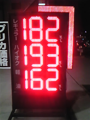 Japan's Gasoline Price, August 2008