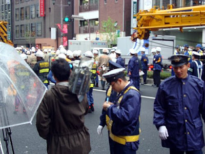 Crane Collapses in Kojimachi
