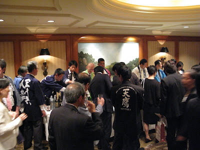 Sake tasting at the City Club of Tokyo.
