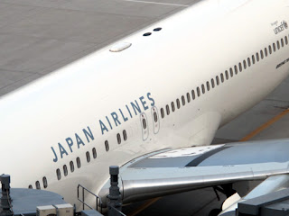 Japan Airlines JAL plane.