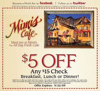 Using Mimi's Cafe Coupons is easy and they are readily accepted at most stores. Let us take the work out of finding all your Mimi's Cafe coupons! Make sure you check for any restrictions on .