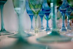 Färgat glas från Su Casa butik.