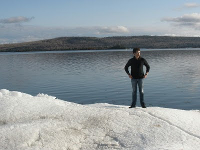 Ice-out April 4, 2010, Whitefish Lake, ON