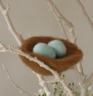 Needlefelted Robin's Nest Tutorial