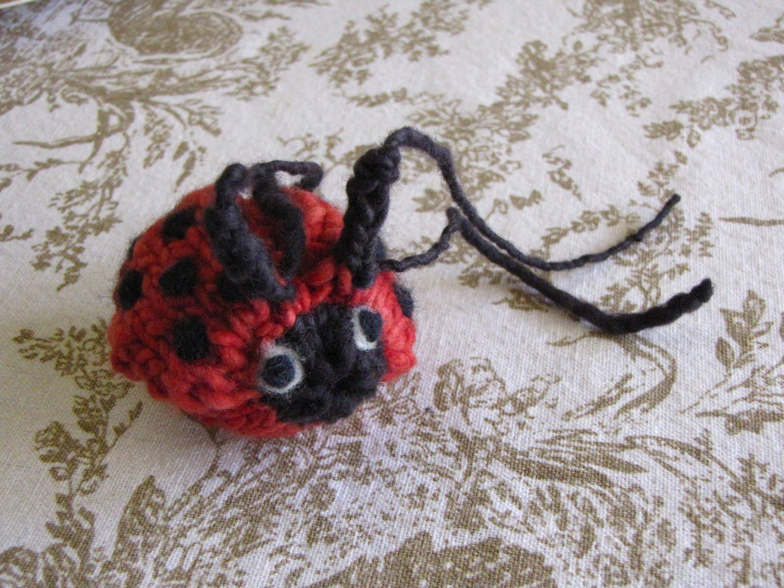 Knitting Ladybug Ladybird Headband : Knitted mamma earth ladybug ladybird pattern natural