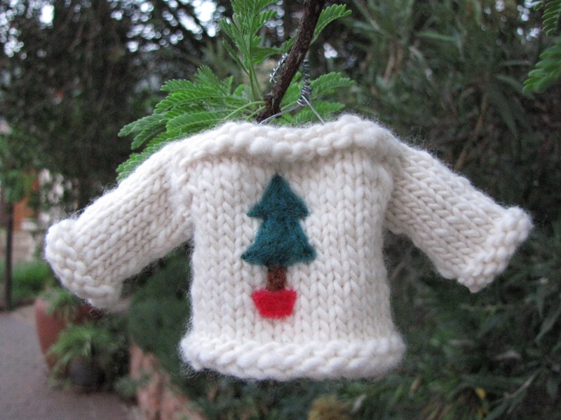 Christmas Sweater Jersey Knitted Ornament Pattern Handmade