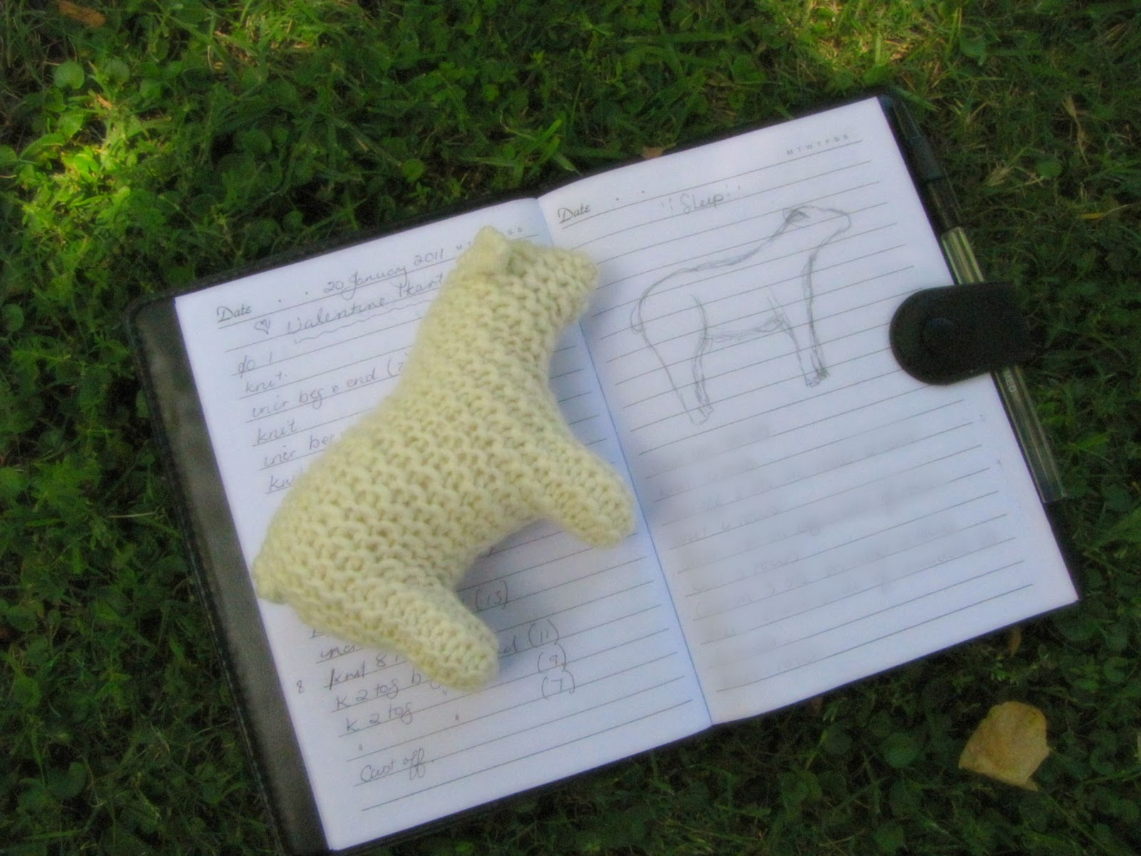 Knitting Sheep, The Pattern Thought Process... - Natural Suburbia