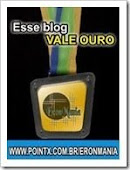 """Prêmio """"Esse Blog Vale Ouro"""""""