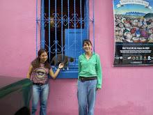 Con el gato del teatro Salamandra