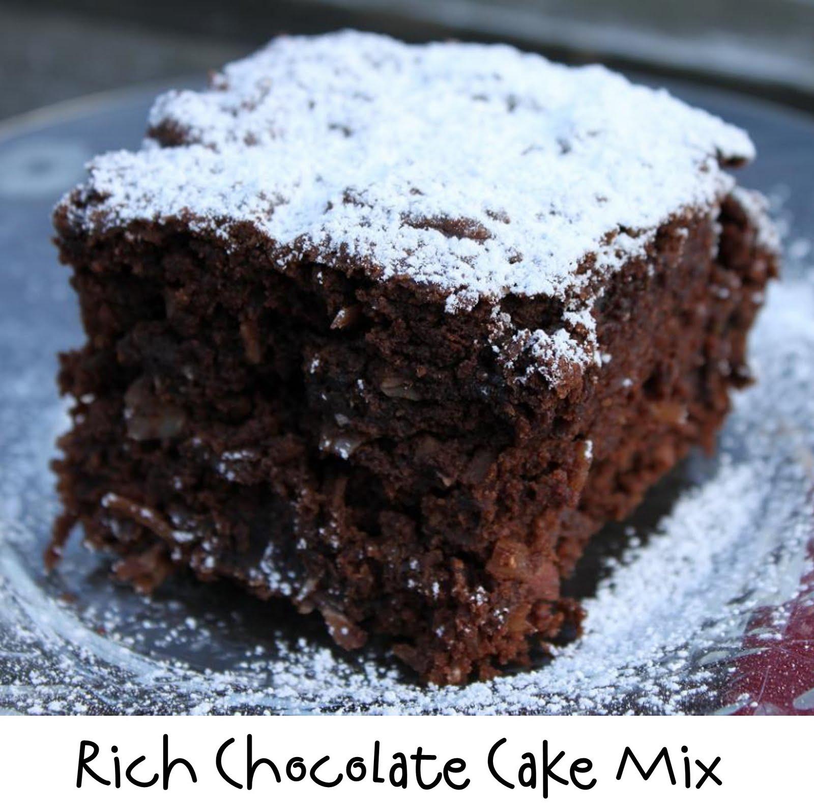 Prepared NOT Scared!: Mix Recipe #3: Rich Chocolate Cake Mix!