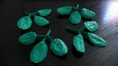Origami leafs