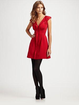 the sophisticated holiday mingle and sip some eggnog ingrid dress nanette lepore saks 22080 - Red Christmas Dresses