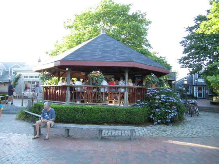 So After We Docked In Nantucket Went Straight To Our B Change And Drop Stuff Off Freshened Up Headed Out The Gazebo Seen Above