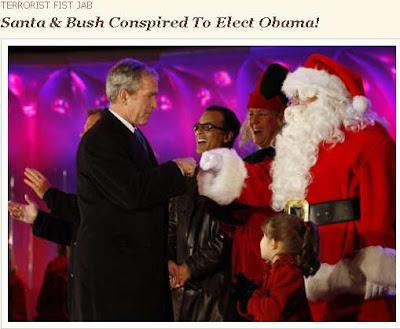 Bush Santa terrorist fist jab