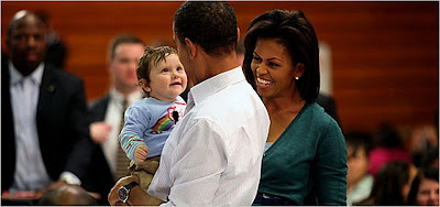 Obamas and a baby