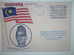 1st Day Cover..Merdeka. 31st.Aug.1957