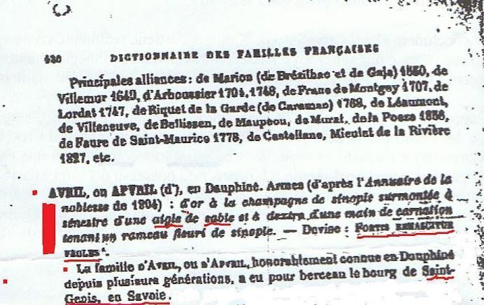 Avril de Saint Genis de Savoie