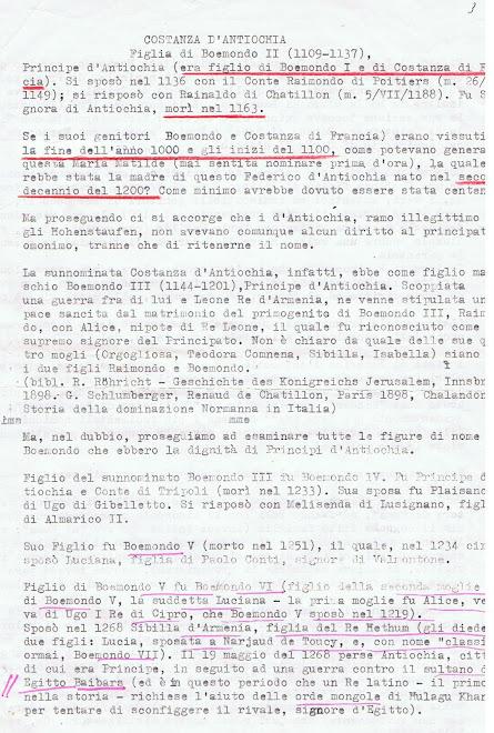 Perizia del Prof.Reina storico, per gentile concessione direttore  Giornale