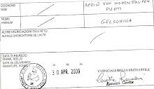 cert.anamnestico Aprile von Hohenstaufen Puoti Gelsomina (Yasmin)