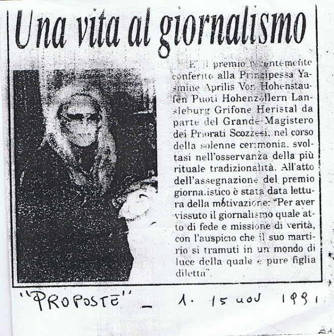 la Giornalista  Yasmin  Aprile von Hohenstaufen Puoti