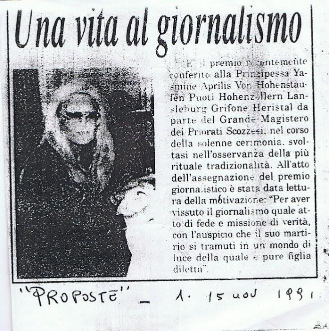 la Giornalista  Yasmin  Aprile von Hohenstaufen Puoti