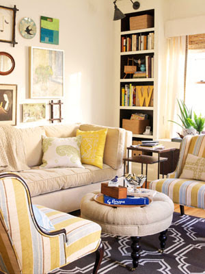 green bicycle lovely living room bhg living rooms yellow