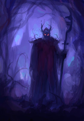 dark character concept art sketch
