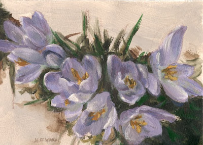 violet flowers painting