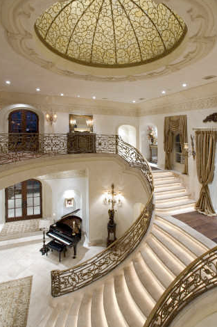 Living room mediterranean staircase los angeles by la design - Beautiful Curved Staircases In Texas Luxury Stairs Gallery
