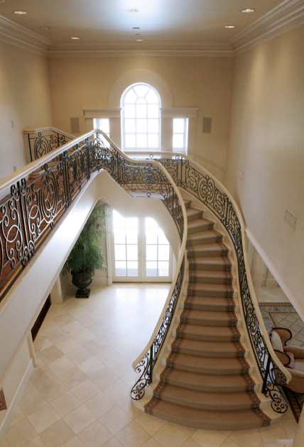 Luxury stairs gallery beautiful curved staircases in florida for Luxury staircases