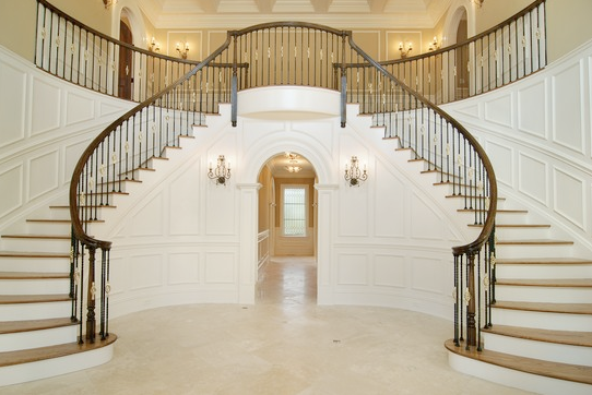 Beautiful double curved staircases in new york luxury for Double curved staircase