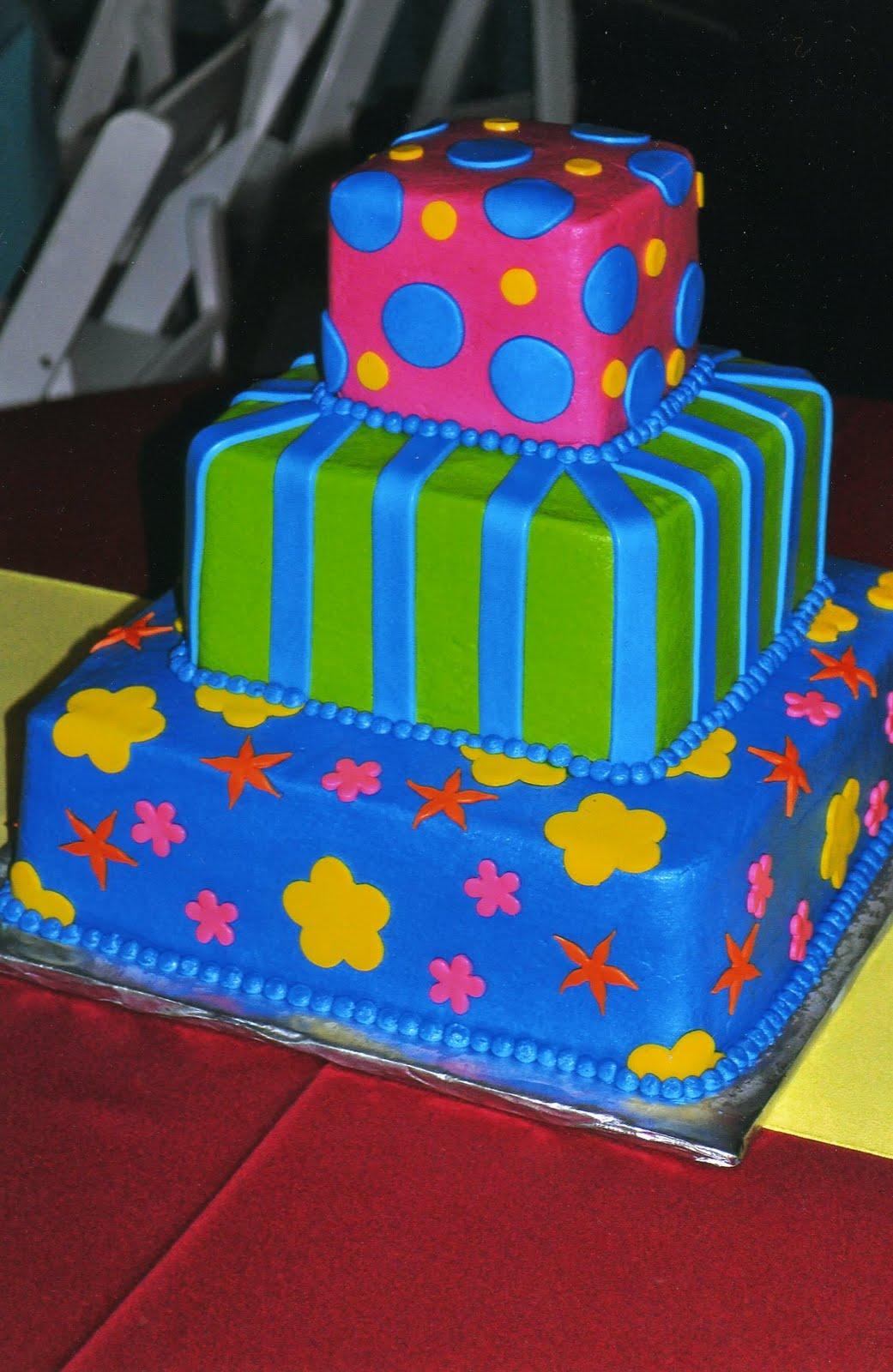 navy blue square wedding cakes