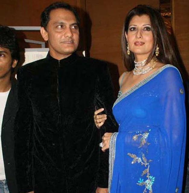 Azharuddin and Sangeeta Bijlani