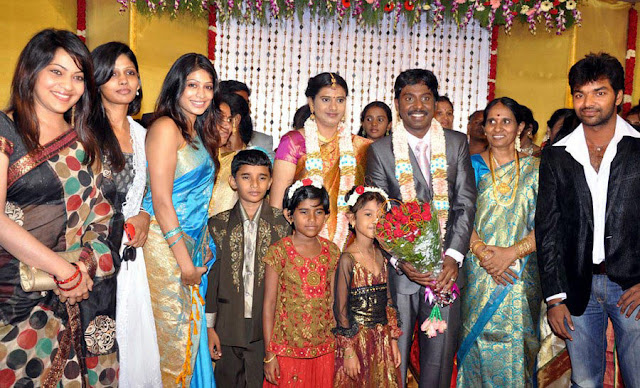 Vasanth Vijay wedding reception stills 4