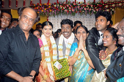 Rajini surprises die-hard fan at Vijay Vasanth reception